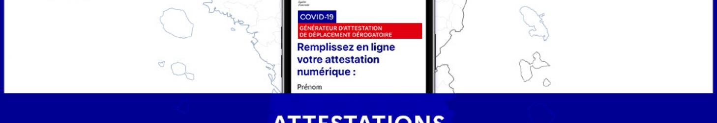 COVID 19: Attestations de Déplacement