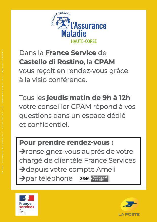 La CPAM et France Services.