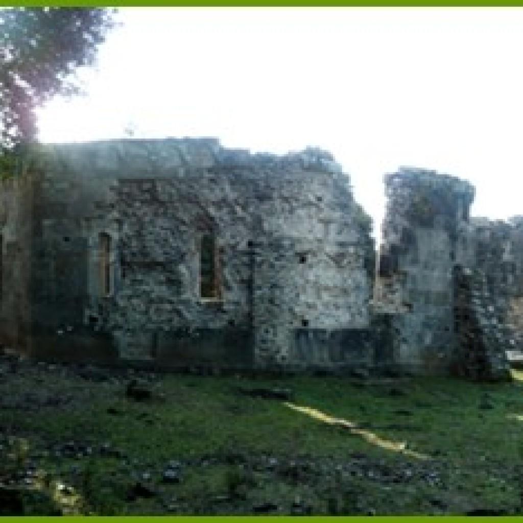 Les murs du baptistère